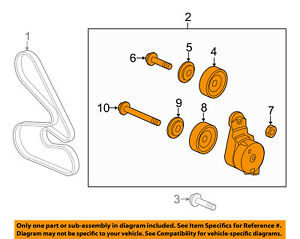 HONDA OEM 11-17 Odyssey-Belt Tensioner 31170RV0A01