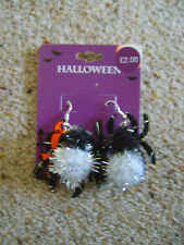 Ladies Girls Spider Earrings Ear Rings Halloween Fancy Dress Costume Accessory