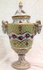"""Antique Porcelain Urn Dresden - H: 9"""""""