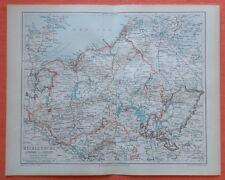 MECKLENBURG Schwerin Strelitz Rostock Ludwigslust  historische Landkarte 1896