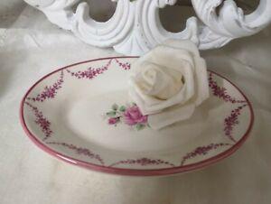 Soap Dish Bath Roses Bowl Shabby Vintage 6 5/16x4 5/16in