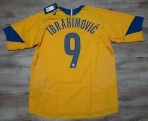 Juventus Jersey Shirt #9 Ibrahimovic 100% Original Men's L 2005/2006 Away NEW