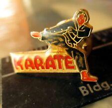 True Vintage 80s Karate Enameled Pinback