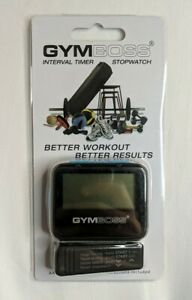 GYMBOSS INTERVAL TIMER AND STOPWATCH BLACK / BLUE SOFTCOAT - NEW