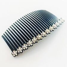 USA Hair Comb Rhinestone Crystal Hairpin French Twist Party Dancer Flower Clear
