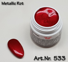 5 ml  UV Exclusiv Farbgel Metallic Rot Gel Nr.533