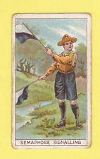 BOY SCOUTS - PASCALL - RARE BOY SCOUTS CARD  -  SEMAPHORE SIGNALLING  -  1912