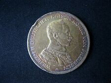 Antique SILVER COIN 3 MARK 1914 A marks WILHELM II Prussia German Empire KM# 538