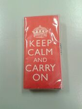 KEEP CALM AND CARRY ON - 1 PACKUNG TASCHENTÜCHER