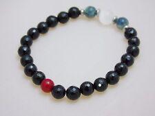 Black Tourmaline Protection Bracelet Selenite Kyanite Red Coral Crystal Healing