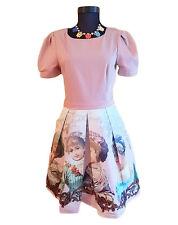 Crew Neck Skater Short Sleeve Formal Dresses for Women
