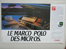 11/1985 PUB CANON X 07 MICRO PC ORDINATEUR COMPUTER ORIGINAL FRENCH AD