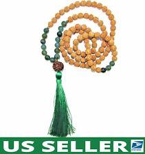 Handmade💕 Prosperity Mala Rudraksha Bodhi Seed & Agate w/Tassel 108 Meditation