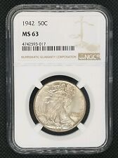 1942 Walking Liberty Half Dollar | NGC MS 63 | Beautiful Coin!