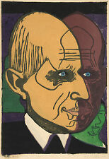 Ernst Kirchner Reproduction: Portrait of Dr. Bauer - Fine Art Print