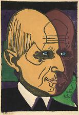 Ernst Kirchner Reproduction: Portrait of Dr. Bauer - Fine Art Print