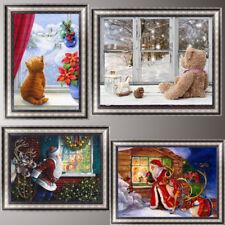 Christmas Window DIY 5D Diamond Painting Santa Claus Cross Stitch Home Decor Art