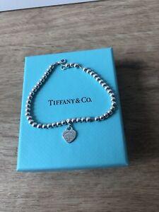 Return to Tiffany Armband Herz Kugelarmband Silber Staubbeutel Geschenkbox