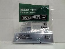 Everbilt 3 in. Steel Zinc-Plated Mending Plate (4-Pack), 339512