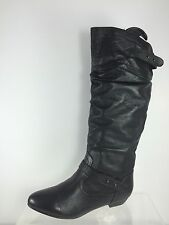 Steve Madden Black Leather Knee Boots 8 M
