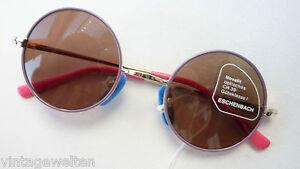 Brille Eschenbach freche runde Kinder Sonnenbrille lila gold leicht Gr: XS