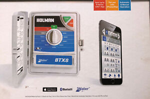 Holman BTX8 8 Station Bluetooth Smart Irrigation Controller 7 Day Schedule