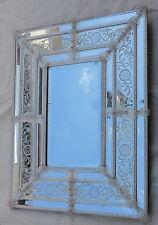 1950' Miroir Murano Pareclose Rectangulaire, Milieu Biseauté 92 X 73 cm
