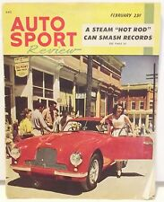 "Vintage Hot Rod Race MAGAZINE ""Auto Sport Review"" February 1953 '53 Aston Martin"