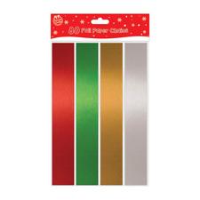 80pc Navidad Autoadhesivo Metalizado Papel Cadenas Envoltorio Regalo Caja Rojo