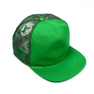 NWT Louis Vuitton Men's Green Embroidered Mesh Everyday LV Trucker Hat AUTHENTIC