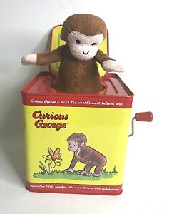Schylling Classic Curious George Musical Jack in the Box Toy Universal Studios