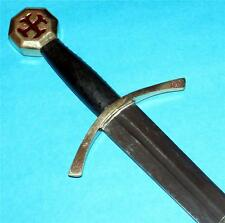 MEDIEVAL KNIGHT Templar Hospitaller Teutonic Middle Ages STEEL SWORD with SHEATH
