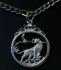 NICE Celtic Tiger Pendant Charm Silver Gothic Jewelry