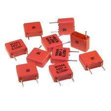 10 Wima polipropileno diapositivas-condensador mkp4 250v 0,1uf 7,5mm 089694