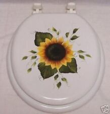 Hp Sunflower Toilet Seat/Matching Waste Basket/Special