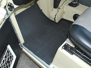 Land Rover Series 2 & 3 Front  Rubber Floor Mats Pair  DA4422
