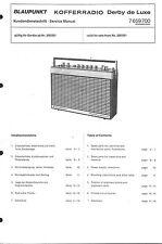Blaupunkt Service Manual für Derby de Luxe 7659 700