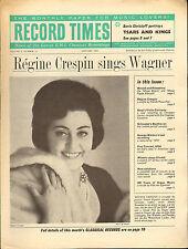 RECORD TIMES NEWSPAPER 1964 01 JANUARY crespin/christoff/ferras/karl engel/etc