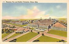 Ohio postcard Akron, Firestone Tire and Rubber Company aerial view