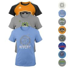MLS Adidas Climalite, Tri-Blend, Basic Team Graphic T-Shirt Youth Girls (XS-XL)