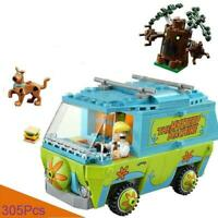 305Pcs SCOOBY DOO The Mystery Machine Building Blocks Toys Animal For Childrens