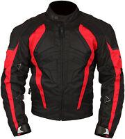Milano Sport Gamma Black Red Waterproof Textile Motorcycle Jacket RRP £89.99!!