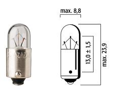 FLOSSER LAMPADINA 12V 3W T4 BA9S AUTO LAMPADA LUCE INDICATORE PANNELLO BIANCO