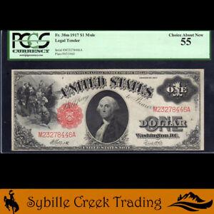 1917 $1 LEGAL TENDER *SAWHORSE* NOTE  Fr 38m  M23278446A