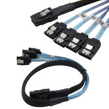 Mini SAS SFF-8087 36 PIN To 4 SATA 7 P HD Splitter Breakout Cable 10gbps Band