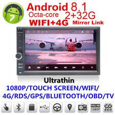 Android 8.1 GPS Navigation 32G 2Din Car Stereo Radio noDVD Player Bluetooth WIFI