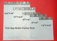 25 Poly Bag Mailer Variety Pack 5 Medium To Large Size Shipping Envelope Bags
