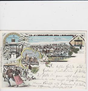 Litho Herborn Lahn Dill Kr. - 5 Motive im Winter 1906