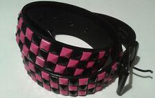 126e707fac55 ceinture rose et noire pyramide carré - punk rock gothique metal clouté