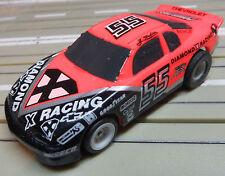 PARA COCHE SLOT RACING Maqueta de tren NASCAR N º 55 con TOMY MOTOR